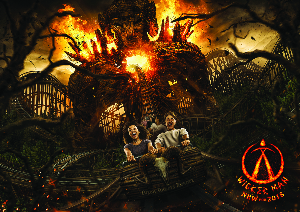 Wicker man key visual alton towers
