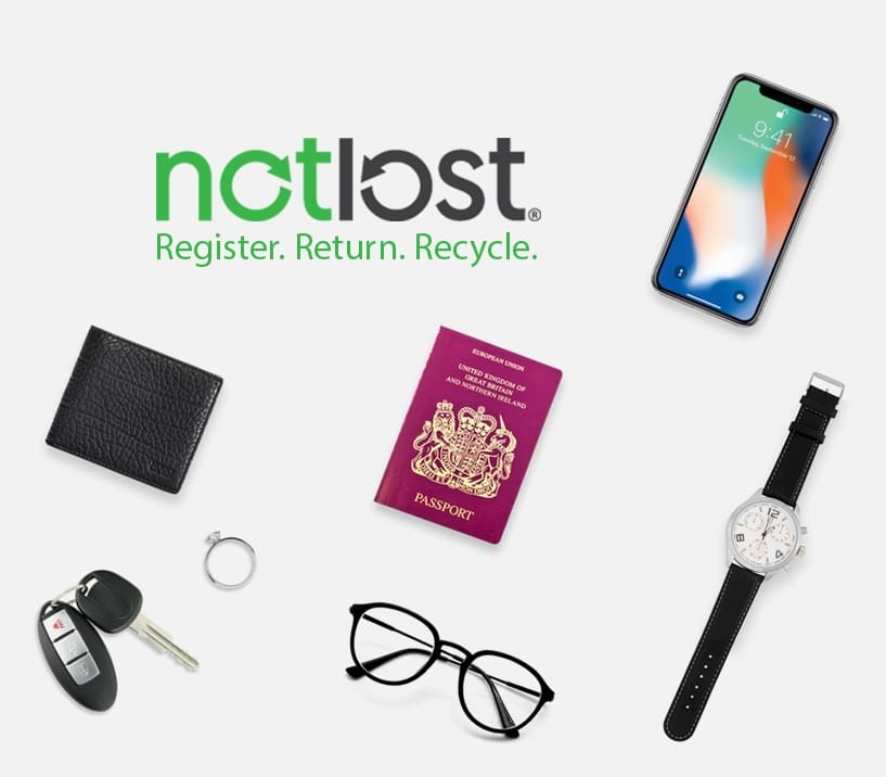 Various items of lost property including a lost passport, lost iPhone, lost glasses, lost keys and lost wallet.
